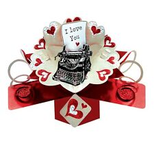 I Love You Pop-Up Greeting Card Valentine's Day or Any Occasion 3D Pop Up Cards