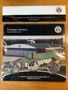 2021 Tuskegee Airmen NP 3 Quarter Set - P D and S Quarters *PROBLEM SET*