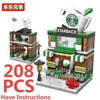 City Street Cafe Coffee Shop Mini Blocks Building Brikcs View Model Toy