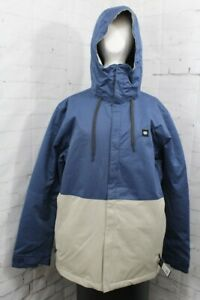 686 Foundation Insulated Snowboard Jacket Mens Large Vintage Navy Colorblock New