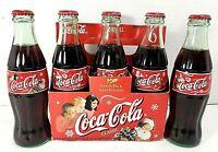 Vintage Coca Cola Christmas Santa Pack 2000 Limited Edition 6 pack 8oz Bottles
