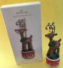 Hallmark Keepsake 2010 Wiggle Wobble Reindeer Ornament New Free Ship