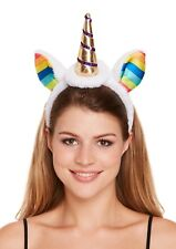 Unicorn Horn Headband with Rainbow Ears Fancy Dress Accessory Kids Adults Girls