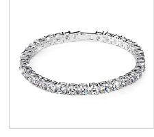 Elegant Sparkly 18K White Gold Plated Zircon Tennis Bracelet Bangle