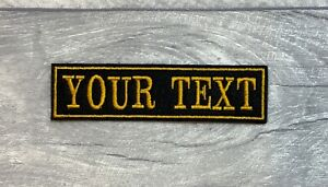 1 LINE NAME CUSTOM PERSONALISED PATCH SEW ON BIKER SCOOTER FANCY DRESS
