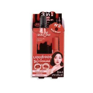 6 x Nami Make Up Pro Seoul Chic Moisture Matte Lip and Cheek # 02 Brick Brown.