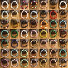 Chaud Unisexe 10mm Rond Pierre Naturelle Bracelet De Perles