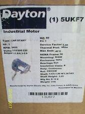 *NEW* DAYTON 1 HP INDUSTRIAL MOTOR 115/208-230V 11.8/6.3-5.9 AMP , 5UKF7