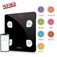 Digital LCD Body Fat Scale Weight Muscle Bone Water BMI Smart Analyzer 180kg WN
