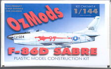 OzMods 1/144 NORTH AMERICAN F-86 SABRE JET with Injected Canopy