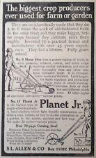 1918 AD(XX34)~PLANET JR. NO.8 HORSE HOE AND NO.17 SINGLE WHEEL HOE