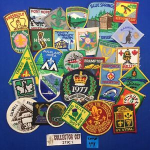 Boy Scout 30 International Scout Patches Mixed Lot # 44 Canada, Gilwell, Jubilee