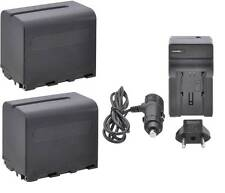 Dual 7800 mAh Battery w/ Charger for Sony HDR-FX1 HDR-FX7 HDR-FX1000 HDR-AX2000