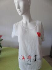 lot de 2 haut blanc en coton marque 1.2.3 taille 42 ########