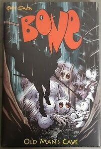 Bone Old Man's Cave Cartoon Books Hardcover Signed And Remarked By Jeff Smith