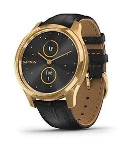 Garmin vivomove Luxe Hybrid Smartwatch-24K Gold PVD Embossed Band 010-02241-02