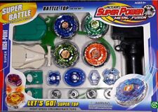 4x Metal Fighting Gyro+Launcher Starter for Beyblade + Ripcord Metal Tip