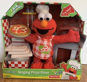 2007 Fisher-Price SINGING PIZZA ELMO *SESAME STREET* NEW In BOX OLD SCHOOL