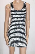 XCEPSION Brand Black Rose Layer Bodycon Tank Dress Size L BNWT #SW108