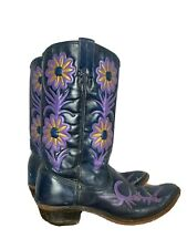RODEO womens cowboy western floral boots 8 VINTAGE BOHO