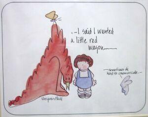 VIRGINIA HALL framed print Little Red Dragon 1970s miscommunication humor