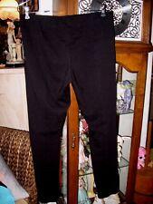 Basic, Black Leggings Wide Band Comfort Waist Size Medium