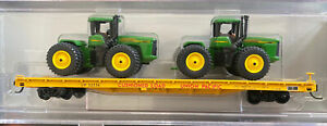 N scale collector NSC John Deere Tractor Union Pacific 60' Flat Car Special Run
