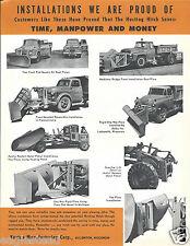 Equipment Brochure - Kasten - Snow Plow Husting Hitch - c1960 (E2762)