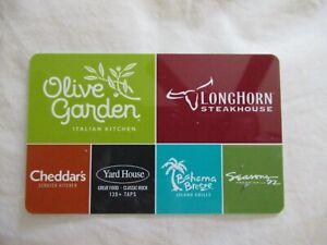 $100.00 DARDEN GIFT CARD Olive Garden, Longhorn, Cheddar's, Yard House & more