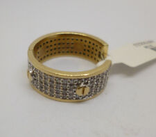 earring with a diameter of 20 mm 9ct yellow gold single synthetic diamond hoop