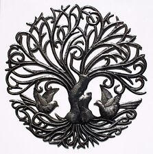 """Metal Tree with Birds Haitian Metal Art Haiti Products Online Sale, Size 24"""""""