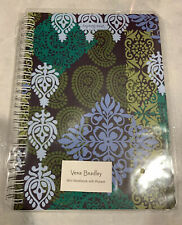 NEW NIB Vera Bradley Mini Notebook w/ Pocket Caribbean Sea Green Blue Brown