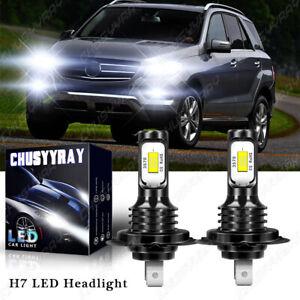 For Mercedes-Benz ML350 2003-2015 Super White H7 LED Headlight Low Beam Bulbs 2x