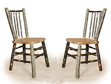 1 week sale  2 Rustic Hickory Stick-Back Dining Side Chair Kitchen Amish Made