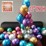 "50 METALLIC LATEX PEARL CHROME BALLOONS 12"" Helium Baloon Happy Birthday Party"