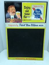 1961 PAPST BLUE RIBBON BEER ADVERTISMENT W MENUE BOARD.