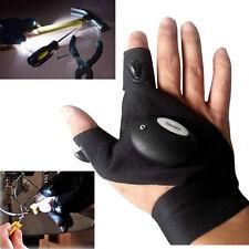 Guanto mano destra doppio LED pesca e lavori notte torcia su mano misura unica