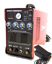 Simadre Plasma Cutter + Foot Pedal 5200DX 50A / 200A Tig Arc Mma Welder 110/220V