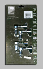 PING CHROME BASS PRECISION TUNING MACHINES w/BUSHINGS 4 IN LINE