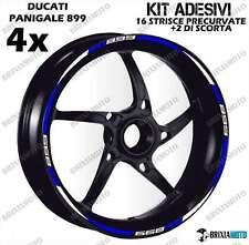 899 PERFIL WHEEL RIM STICKERS DOS TONOS Ducati Panigale TIRAS WHITE BLUE