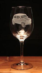 Mini Car Classic engraved Wine Glass gift present