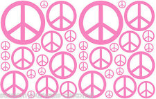 38 SOFT PINK PEACE SIGN VINYL KIDS BEDROOM DECAL STICKER Teen Kids Boy Girl Room