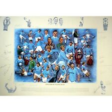 Manchester City - Legends of Maine Road - Fully signed print