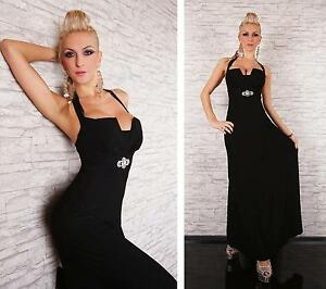 Womens Embellished Backless Formal Party Evening Long Maxi Dress size 8 10 12