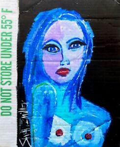 NUDE PAINTING original SWARTZMILLER DNA SIGNED  Pop Art Outsider Wall COA NEW