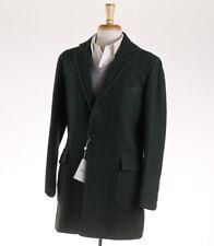 NWT $4000 ORAZIO LUCIANO Forest Green Casentino Wool Overcoat 40 R (Eu 50) Coat