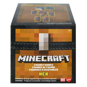 Minecraft Fusion Figures Buildable Action Figure - Wolf or Hex!