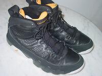 "2010 Nike Air Jordan Retro 9 ""Citrus"" Black/White Shoes! Size 9 Sold As Is!"