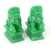 A Pair Of Fu Foo Dogs Guardian Lion Statues Beijing Lion Feng Shui Decoration
