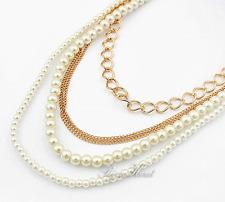 Perle Oro Collana di multi filo trendy&stylisch kolye Pearl Color Crema